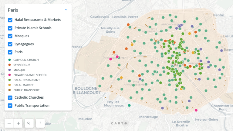 Visualizing French Muslims: NULab Project